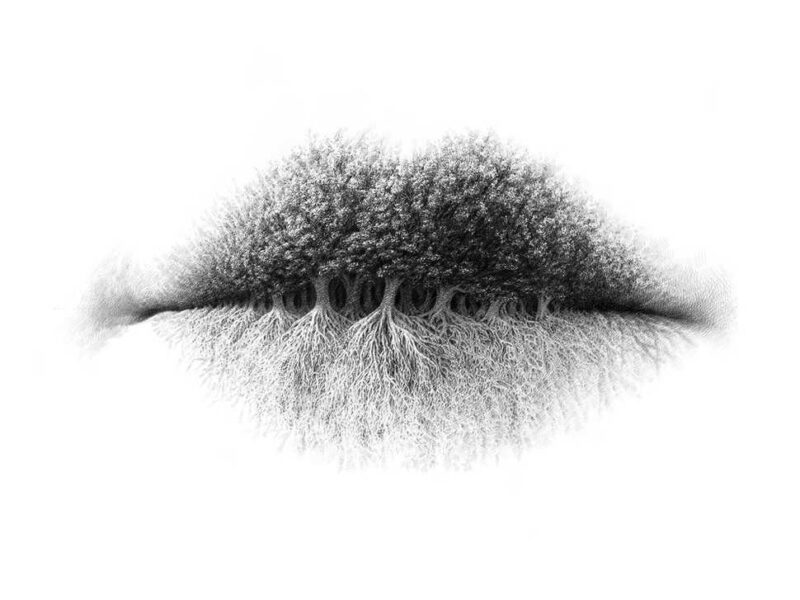 Awesome Pencil Drawings On Texture Of Lips Modern Art. New Ideas - SliControl.Com
