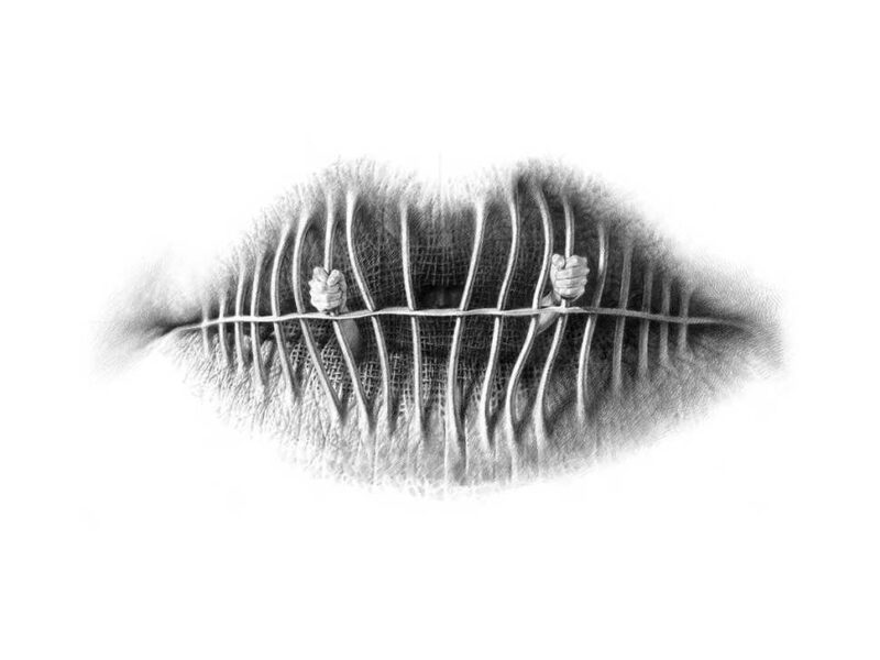 awesome pencil drawings on texture of lips modern art new