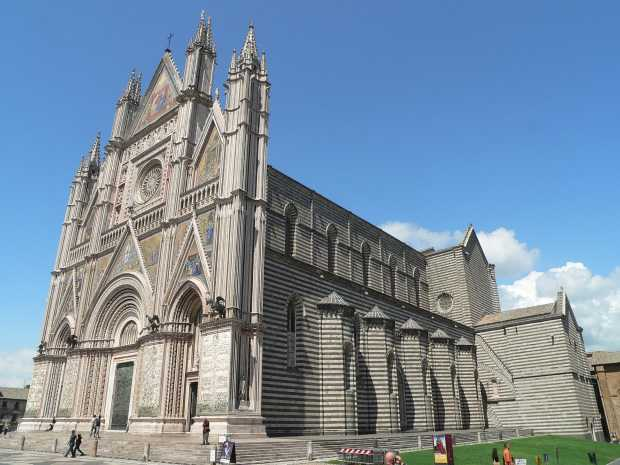 The majestic cathedral in Orvieto