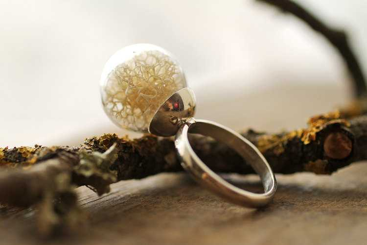 Real moss ring
