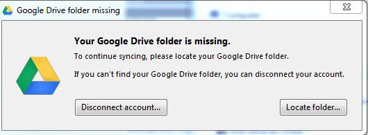 relocate google drive