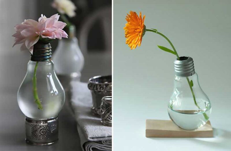 Awesome DIY Ideas For Recycling Old Light Bulbs 4