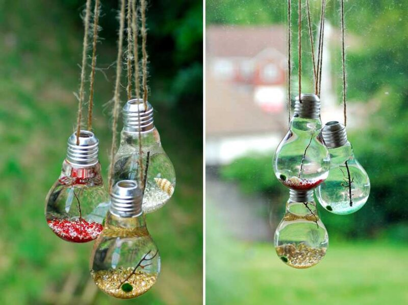 Awesome DIY Ideas For Recycling Old Light Bulbs 6
