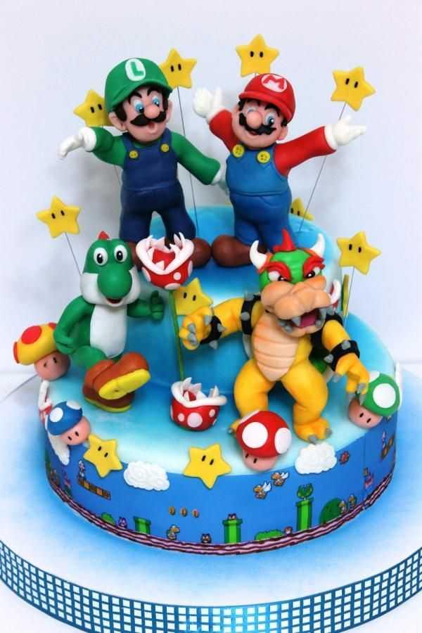 Top 10 Awesome Super Mario Cake Designs SliControlCom