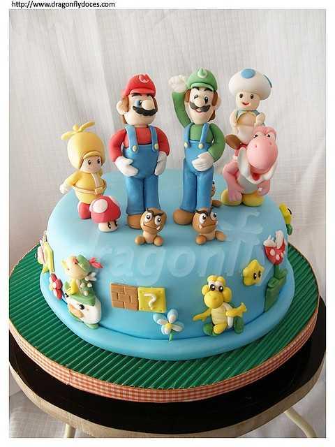 super mario cake 4
