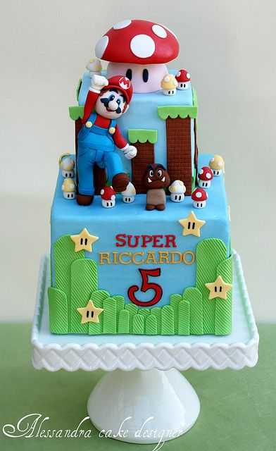 brothers birthday cakes and cupcakes are awesome super mario cake ...