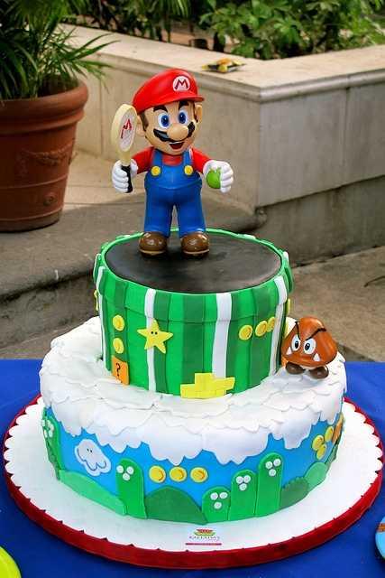 Top 10 Awesome Super Mario Cake Designs Slicontrol Com