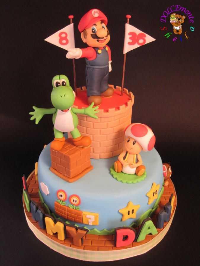 super mario cake 8