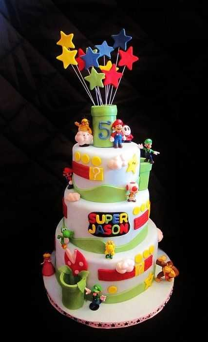 Top 10 Awesome Super Mario Cake Designs Slicontrol Com