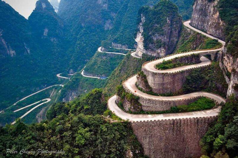 Road To Tianmen Mountains, Zhangjiajie