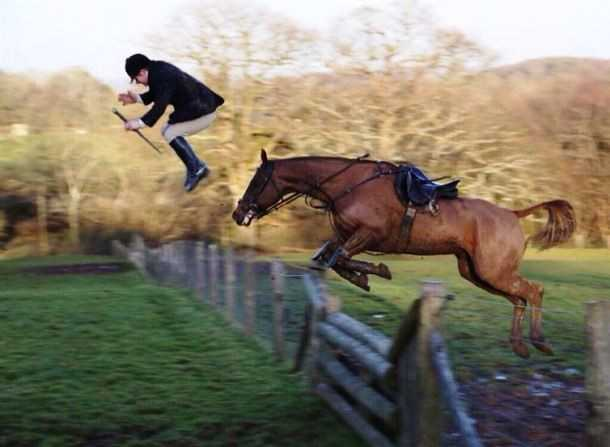 This impatient jockey.