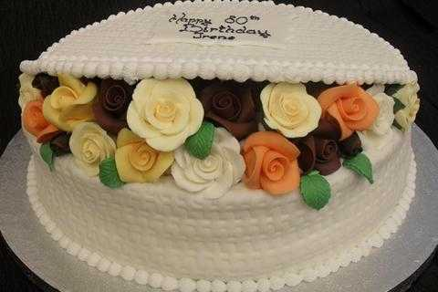 Colorful White Cake