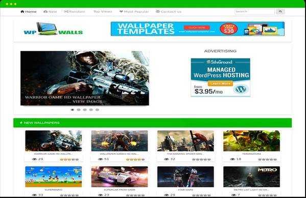 Adsense Optimized WpWalls WordPress Wallpaper Theme