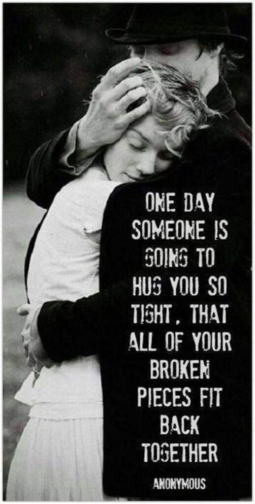 Inspirational love quotes to make it an Awesome day #broken together
