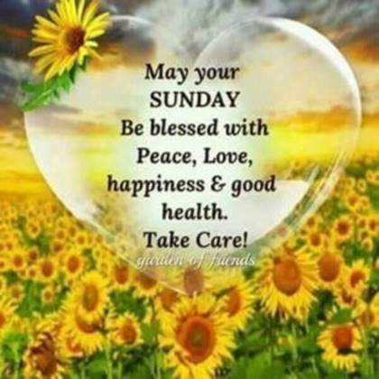 good morning sunday love happiness and good health