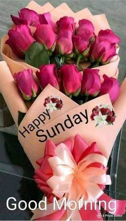 Good Morning Sunday With Rose wishes