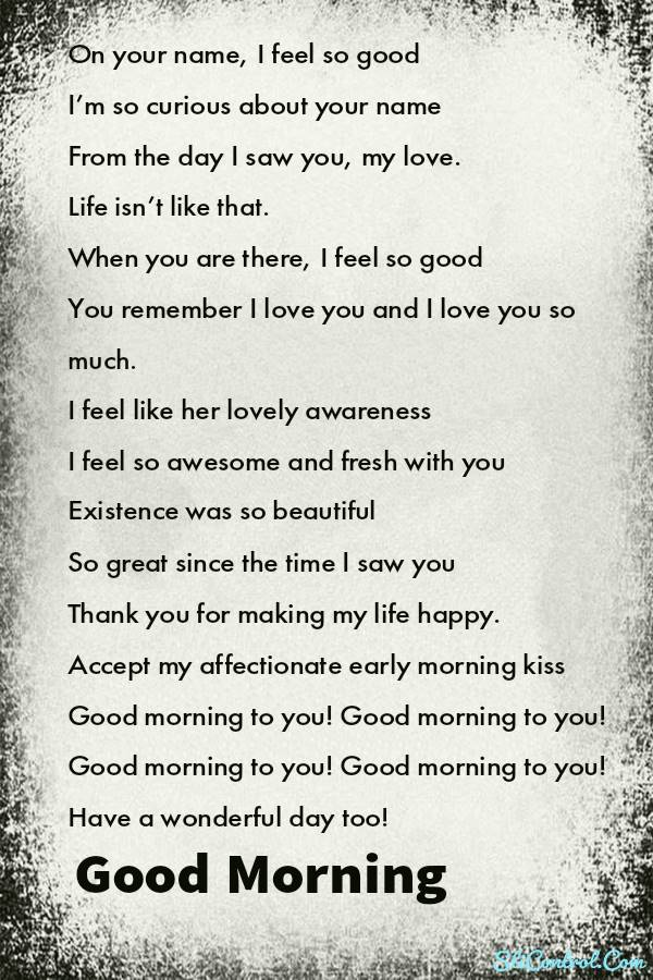 Good Morning Poems for Him | handsome good morning poems for him, boyfriend good morning poems for him, morning love notes for him