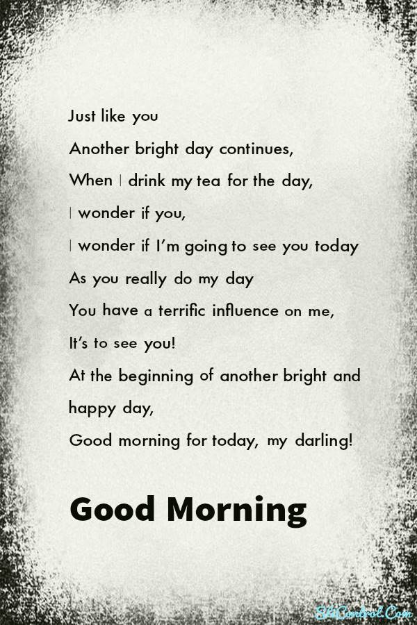 Beautiful Good Morning Love Poems for Him