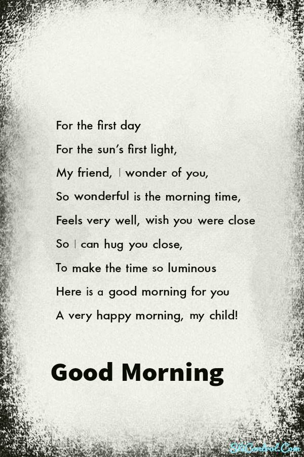 Best Of Incredible Romantic Good Morning Love Poems for Him