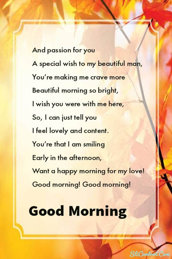 Good Morning Poems For Her And Him - Best Quotes And Wishes
