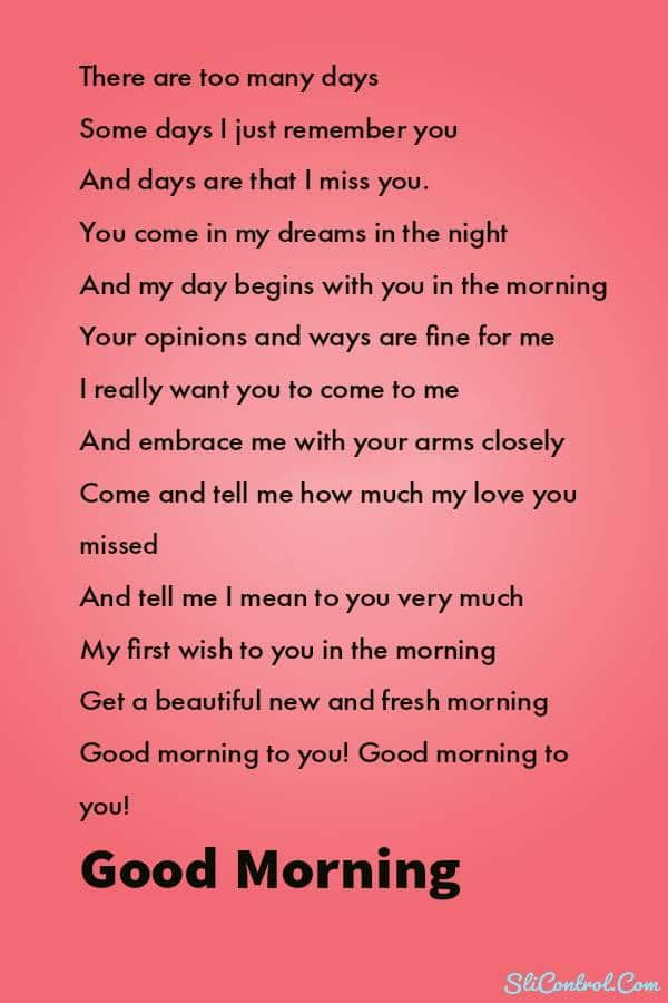 Sweet Good Morning Poems For Him