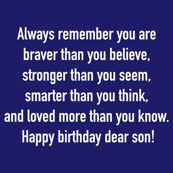 Birthday Son