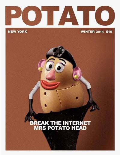 "42 Funny Potato Memes ""Potato. Break the internet mrs potato head."""