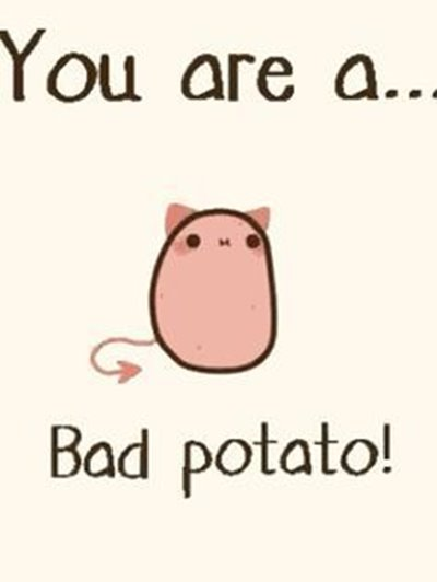 """42 Funny Potato Memes """"Hey, You are a bad potato. You are the best!"""""""
