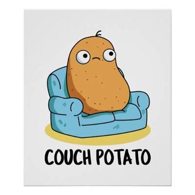 """42 Funny Potato Memes """"Couch potato!"""""""
