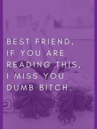 """45 Best I Miss You Memes """"Best friend, if you are reading this, I miss you dumb bitch."""""""